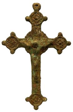 Sadigh Gallery's Ancient Byzantine Bronze Cross with Christ