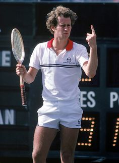 John McEnroe, straight up winner and legend. We love his attitude on and off the court!