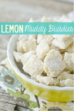A zesty twist on a favorite. Check out this delicious Lemon Muddy Buddies Recipe, plus its gluten free.