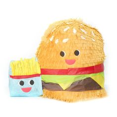 Burger And Fries Pinata by Whack // for my burger loving moms bday.