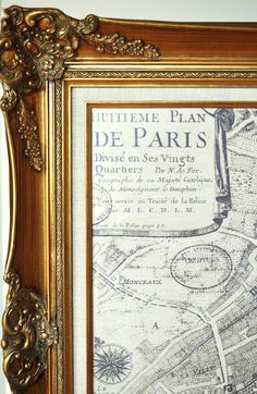 The Painted Hive | DIY Large Scale Printable Maps like Restoration Hardware
