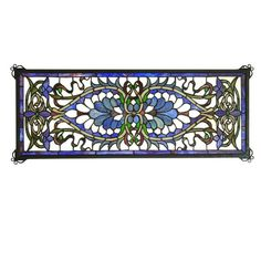 Great for Weissman Antoinette Transom Stained Glass Window by Astoria Grand Home Decor Furniture from top store Stained Glass Cookies, Stained Glass Light, Stained Glass Door, Stained Glass Ornaments, Tiffany Stained Glass, Stained Glass Birds, Stained Glass Christmas, Stained Glass Panels, Stained Glass Window Hangings