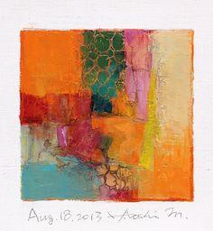 aug182013 | oil on canvas 9 cm x 9 cm hiroshi matsumoto www.… | Flickr