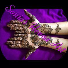 Bridal henna design   By Sonia's Henna Art   Simple bridal henna design  Traditional design of Mehndi Dulhan design  Dulhan Mehndi   Toronto based Artist Henna Artist in Toronto  Www.soniashenna.Com