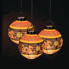 Decorate your home, party or event with these beautiful and traditional Light-Up Chinese Lanterns. These Chinese lanterns will provide the perfect ambiance for any Chinese-themed celebration. The perfect choice for an Asian dinner party or Chinese New Year celebration