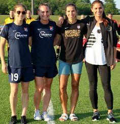 Kelley O'Hara, Christie Rampone, Tobin Heath, and Alex Morgan NWSL uniforms