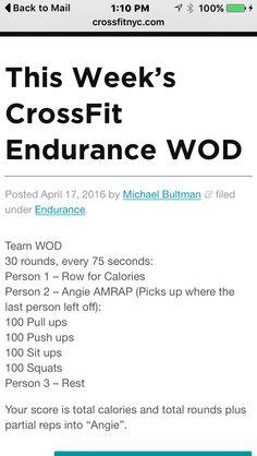 Endurance WOD #crossfit