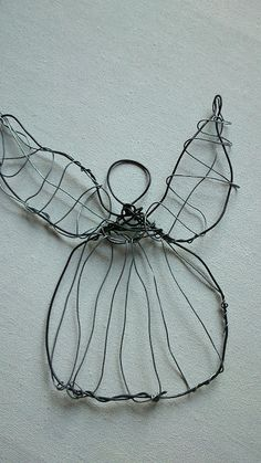 M'made: Iron Wire Angel and willow sun Catcher #wire #crafts