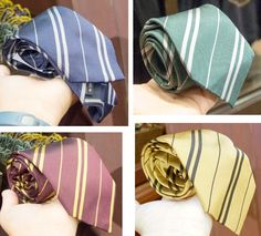 Wizarding World Harry Potter Authentic Silk Tie House Set of 4 NEW