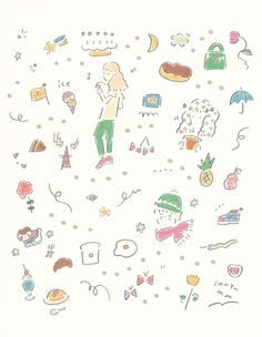 line art illustrator Japanese Illustration, Cute Illustration, Graphic Design Illustration, Textiles, Japanese Graphic Design, Kids Prints, Illustrations And Posters, Cute Stickers, Pattern Wallpaper