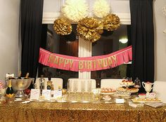"""Gold Glitter """"COCKTAILS"""" Banner Garland perfect for your wedding bar, bar cart or nye party."""