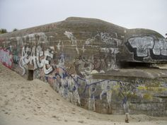 German bunker at Bray-Dunes, near Dunkirk.