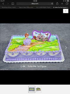 Sofia the first- sheet cake