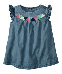 Look at this Vintage Light Chambray Popover Top - Infant, Toddler & Girls on #zulily today!