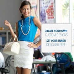 Create your own custom designs now at www.stitchappeal.com. We'd love to hear from your inner designer. #stitchappeal #custom #design #fashion #style