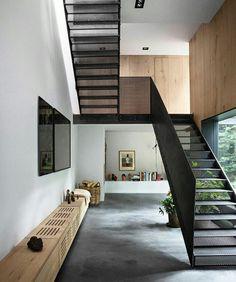 Escaleras de herrería
