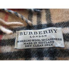 écharpe, pas cher, BURBERRY, collection, cache-col, laine, cachemire 100% authentique sur expert-vintage.com