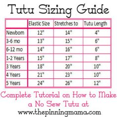 Tutu Sizing Guide                                                                                                                                                                                 More