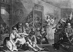 "William Hogarth's Bedlam from ""A Rake's Progress"""