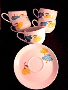 Vintage Mikasa REFLECTIONS Pivotal Ben Seibel Cups Saucers Creamer 11 Pieces #Mikasa