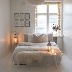 The beautiful cosy bedroom of @65m2_ Vita Eos Light Shade available in our online store ✨ . #bedroom #bedroomdecor #bedroominspo #nordichome #nordicinspiration
