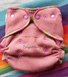 Wool Diaper Cover upcycled Merino Wool One Size by PatsycakeBaby