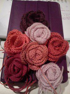 Horgolt rózsák