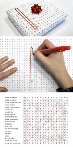 Crosswords Gift Wrap