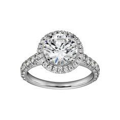 Solitario Cartier Destinée - Platino, diamantes - Fine sortijas de compromiso para mujer - Cartier. LO AMO!