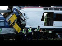 Μετωπική σύγκρουση τρένων στην Ελβετία