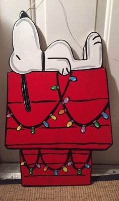 A personal favorite from my Etsy shop https://www.etsy.com/listing/483248910/christmas-snoopy-door-hanger-peanuts