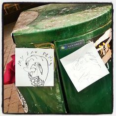 This is real #streetart #postitart post it #trashbin #trashart #isoroba 13.4.16 #Helsinki