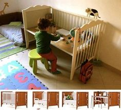 REPURPOSING IDEAS.....Before you donate that old crib, rethink it's possible usefulness such as a playstation for your children.