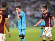 Messi's 100th match ruined by Florenzi wonder goal as Barcelona are held by Roma - See more at: http://one1info.com/article-Messi%E2%80%99s-100th-match-ruined-by-Florenzi-wonder-goal-as-Barcelona-are-held-by-Roma-6265#sthash.vjegU1Fd.dpuf