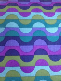 60s 70s Vintage Heals Fabric looks like '70 Pucci design, but not.