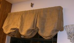 Burlap Box Pleat Balloon Valance with Rod Pocket 24 to 48 inches unlined by CasualEleganceHome on Etsy https://www.etsy.com/listing/77887703/burlap-box-pleat-balloon-valance-with