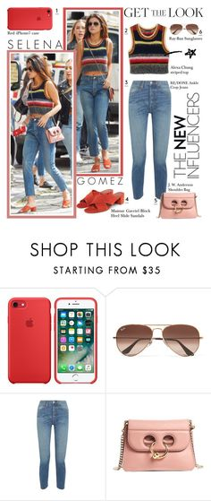 """""""Get The Look: Selena Gomez"""" by the-amj ❤ liked on Polyvore featuring Ray-Ban, RE/DONE and J.W. Anderson"""