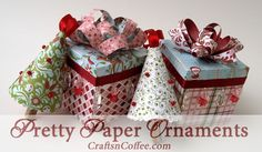 Very pretty, and an easy DIY -- as easy as wrapping a package. Tutorial on CraftsnCoffee.com.