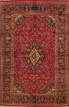 "Mashad Persian Rug, Buy Handmade Mashad Persian Rug 6' 4"" x 10' 0"", Authentic Persian Rug"