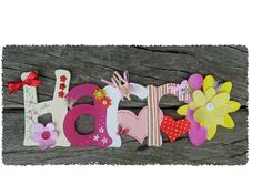 Name plaques from Poppydots