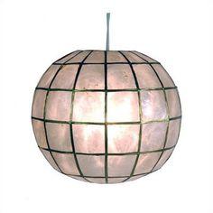 Oriental Furniture Princess Capiz 1 Light Hanging Pendant