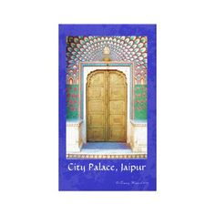 """Vibrantly painted hand carved door with peacock motifs at City Palace in Jaipur, Rajasthan, India. India is a colorful place, and I wanted to highlight some of the amazing designs and details I have found during my extended travels there. My new """"Colors of India"""" series currently features images from Rajasthan and Himachal Pradesh states in northern India. These images are great for those with an interest in travel, history, and ethnic arts from international destinations. Original fine art t..."""