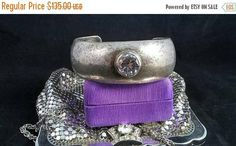 On SALE High End Vintage Sterling Silver & Crystal Rhinestone Cuff Bracelet - Collectible Signed Jewelry Etsy Vintage, Vintage Items, Vintage Jewelry, Antique Jewelry, Jewelry Shop, Jewelry Design, Jewelry Stores, Fashion Jewelry, Thing 1