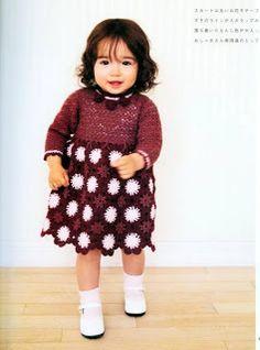 Crochet baby dress chart pattern |Croche pro Bebe