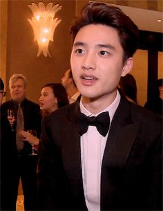 Perfection Personified: Kyungsoo in a suit and bowtie :3