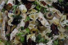 chicken artichoke pasta salad