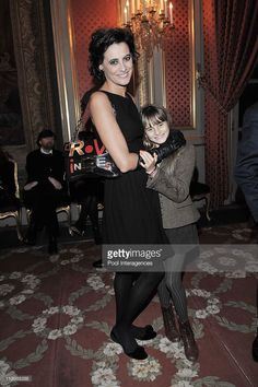 French designers Jean-Louis Scherrer and Sonia Rykiel honored with Officer and Commander of the Legion d'Honneur In Paris, France On January 28, 2009-Model Ines de la Fressange and her daughter.