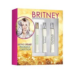 Britney Spears Fragrance Set ($22) ❤ liked on Polyvore featuring beauty products, fragrance, chocolate perfume, britney spears fragrance, fruity perfumes, britney spears perfume and travel perfume