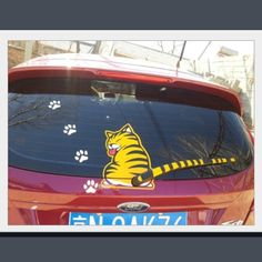 For a limited time, we arediscounting this item 50% off the original price!!!  Installation is quick & easy.See full rear wiper decal installation instructions here.  Dimensions:The body is 19x25 cm The tail is 29x3cmThe paw prints are 4x4cm Please Allow 3-4 Weeks for Delivery