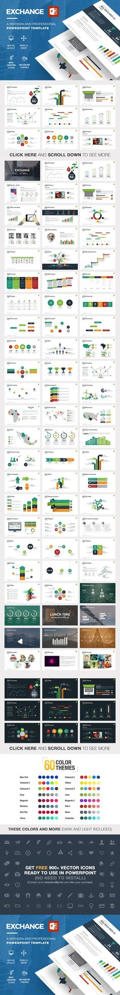 Exchange Powerpoint Template. Business Infographic. $15.00